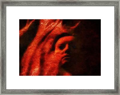 Face Among The Dunes Framed Print