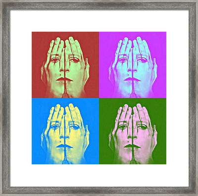 Face Art Framed Print