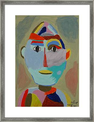 Face Framed Print by Harris Gulko