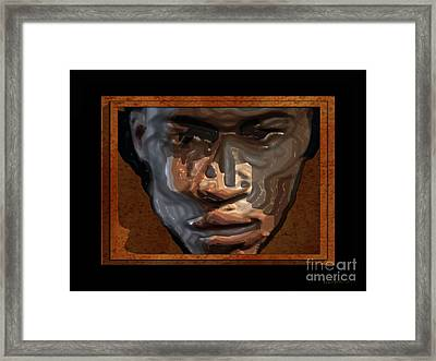 Face In A Box Framed Print by Walter Oliver Neal
