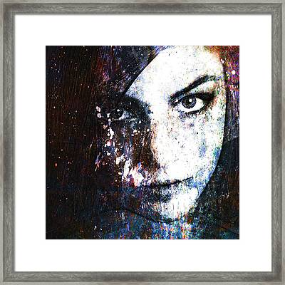 Face In A Dream Framed Print by Marian Voicu