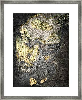 Face In Bronze And Copper Framed Print by Tony Rubino