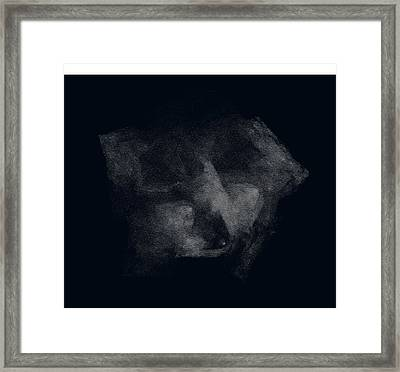 Face In Dark Mood Framed Print by Viktor Savchenko