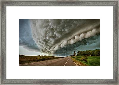 Face In The Storm Framed Print