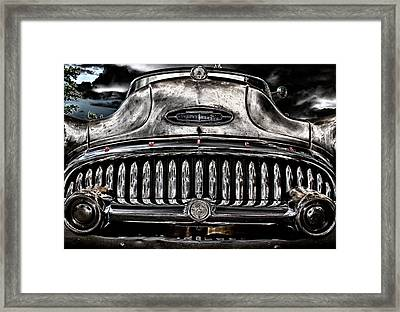 Face In The Storm Framed Print by Marnie Patchett