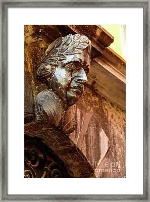 Face In The Streets - Rovinj, Croatia Framed Print