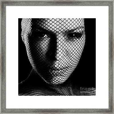 Face Lacemasked #4719 Framed Print