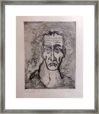 Face Marked By Fatigue Framed Print by Alfonso Robustelli