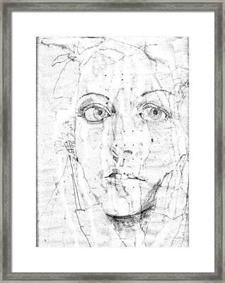 Face Of A Girl Framed Print
