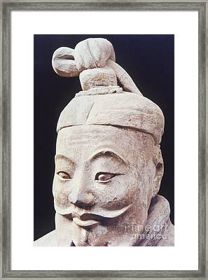 Framed Print featuring the photograph Face Of A Terracotta Warrior by Heiko Koehrer-Wagner