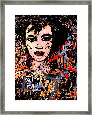 Face Of A Woman Framed Print