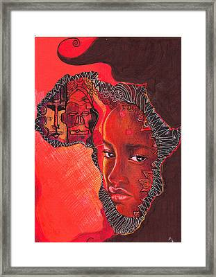 Face Of Africa Framed Print