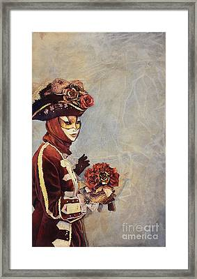 Face Of Carnivale- Italy Framed Print by Ryan Fox