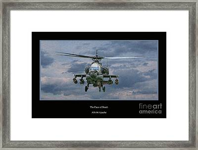 Face Of Death Ah-64 Apache Helicopter Framed Print