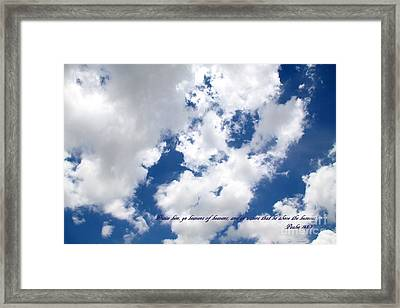 Face Of God Breath Of Life Framed Print