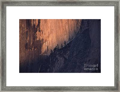 Face Of Half Dome Framed Print by Stan and Anne Foster