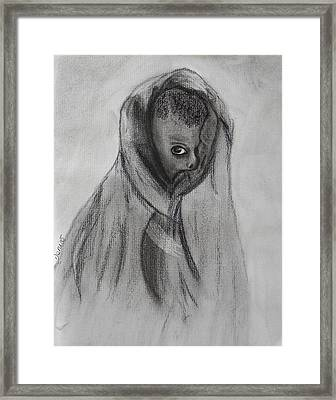 Face Of Hunger Framed Print