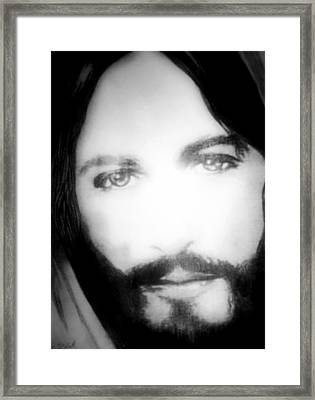 Face Of Jesus Framed Print by Susan  Solak