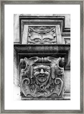 Face Of London Framed Print