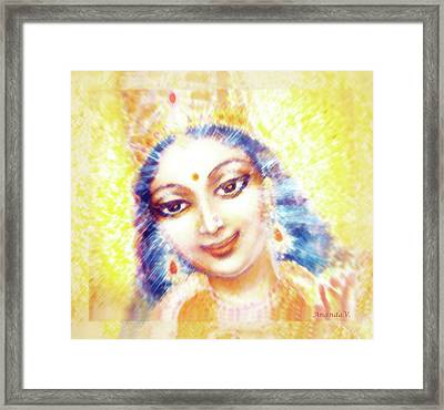 Face Of The Goddess - Lalitha Devi - Light Framed Print by Ananda Vdovic