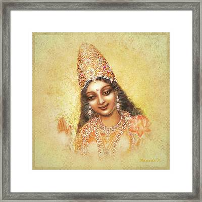 Face Of The Goddess - Lalitha Devi - Without Frame Framed Print by Ananda Vdovic