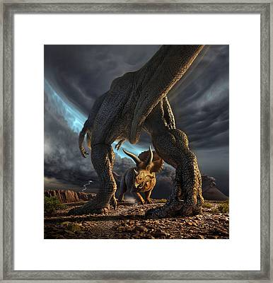 Face Off Framed Print