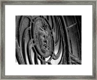 Face On Casino Carousel House Framed Print by Ben Schumin