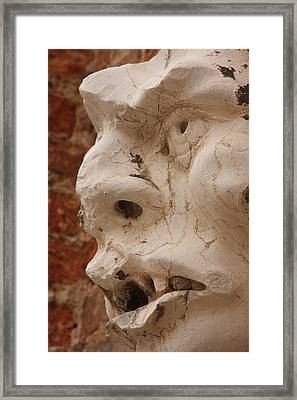 Face On San Trovaso Bell Tower Framed Print by Michael Henderson