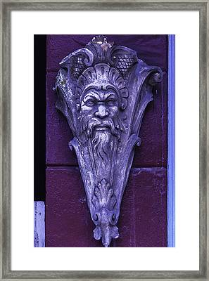 Face On The Wall Framed Print by Garry Gay