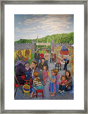 Face Painting At The Long Island Fair Framed Print by Bonnie Siracusa