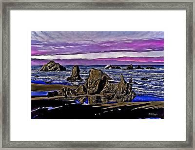 Face Rock At Bandon Beach Framed Print by M S McKenzie