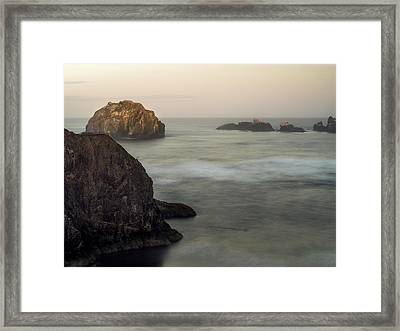 Face Rock Sunrise Framed Print