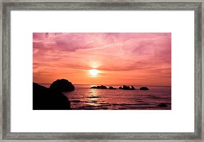 Face Rock Sunset Framed Print