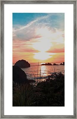 Face Rock Sunset II Framed Print