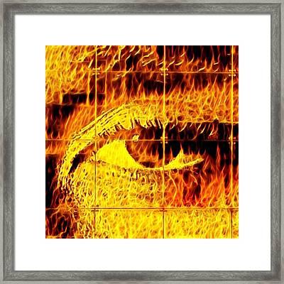 Face The Fire Framed Print