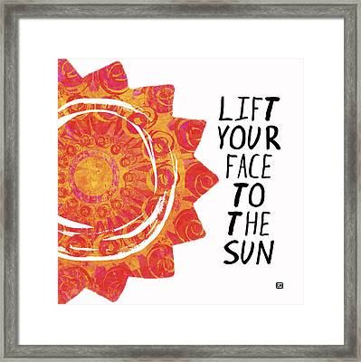 Face To The Sun Framed Print