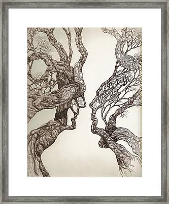 Face Tree 11 Framed Print