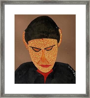 Face Framed Print by Umesh U V