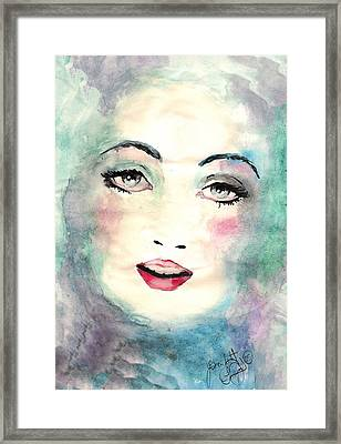 Face Upon The Water Framed Print by Scarlett Royal
