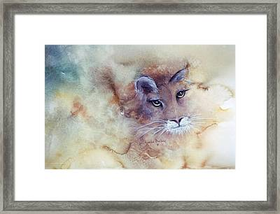 Face With In Framed Print by Lynne Parker