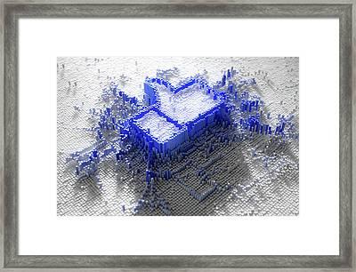 Facebook Like Logo In Pixels Framed Print