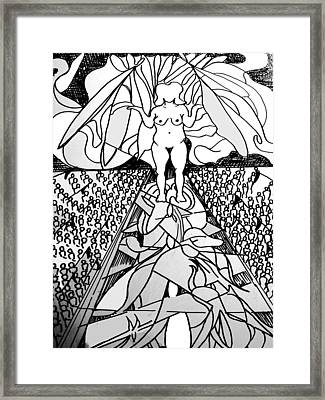 Faceless Fecundity Framed Print by Lee M Plate