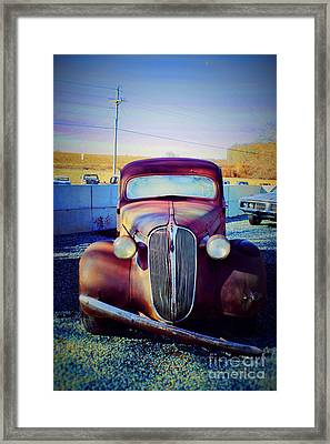 Facelift Wanted Car Framed Print