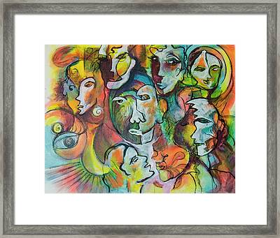 Faces 1 Framed Print by Rina Bhabra