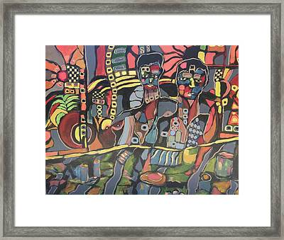 Faces #8 Framed Print