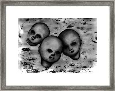 Faces Framed Print by Akiko Okabe