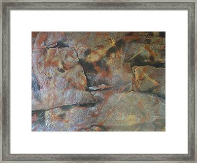 Faces Among Us Framed Print by Renee Holder