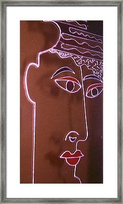 Faces And Alphabets Framed Print by Sylvia Hanna Dahdal