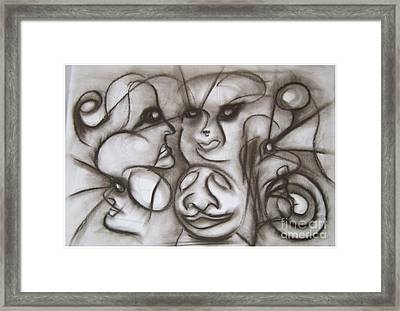 Faces And Places Framed Print