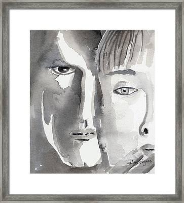 Faces Framed Print by Arline Wagner